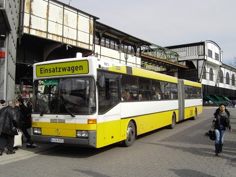 [Video] Mitfahrt im Bus Mercedes O 405 G (Wagennr. 9073) der WSW mobil GmbH, Wuppertal (Teil 1)