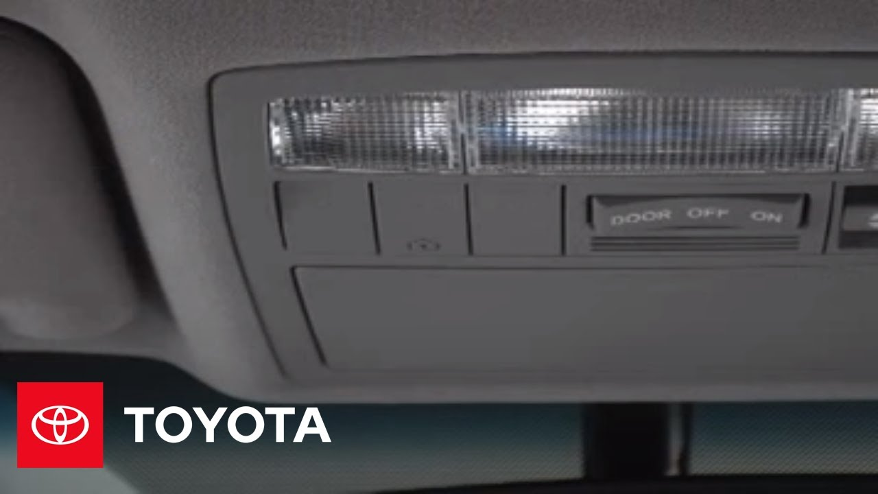 2007 2009 Camry How To Homelink Toyota