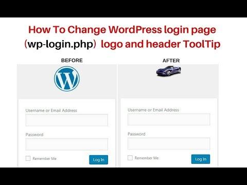 How To Change Wp-login.php Custom Logo And Header Title Wordpress 4.9.5
