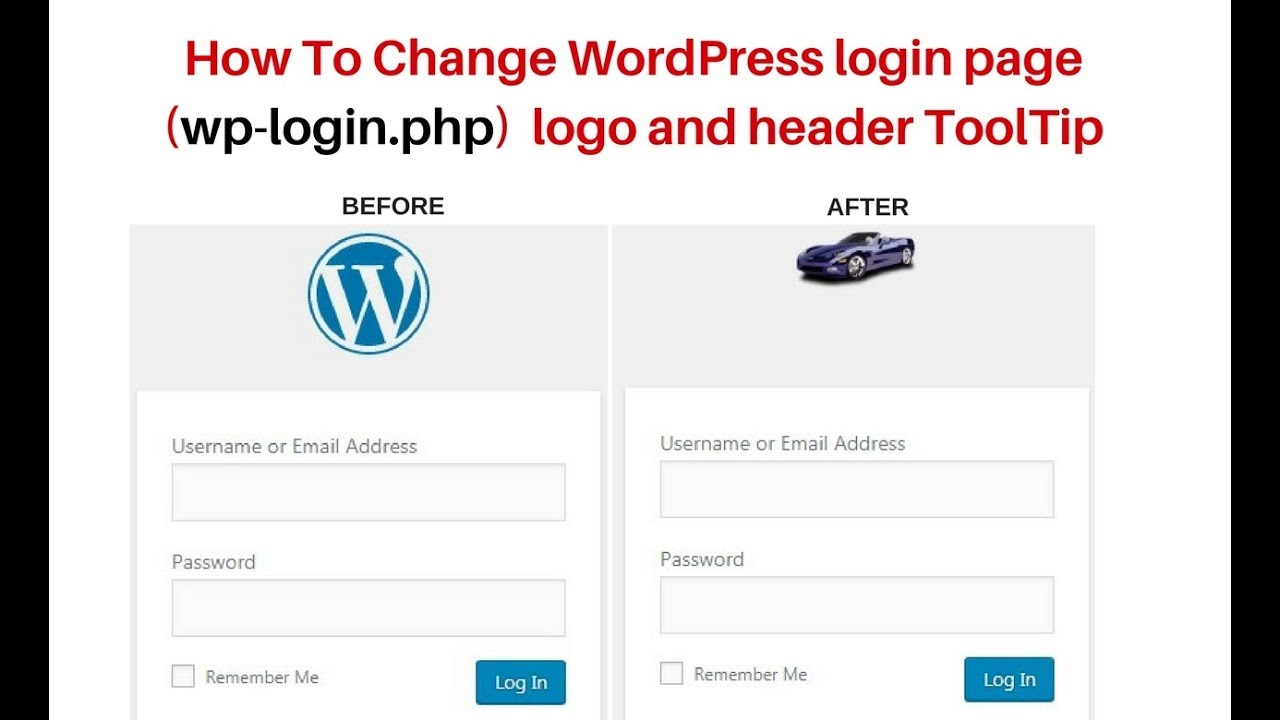 how to change wp login php custom logo and header title wordpress 4 9 5  wp login php with authentication