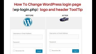 how to change wp-login.php custom logo and header title wordpress 4.9.5 Mp3