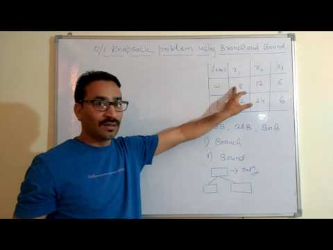 Knapsack problem using Branch and Bound method