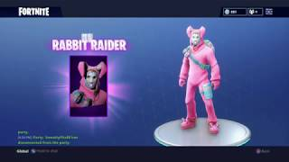 FREE! BRAND NEW FORTNITE RABBIT RAIDER PURCHASE WITH EGG BACKPACK!!!!! CHECK IT OUT BEFORE BUYING!