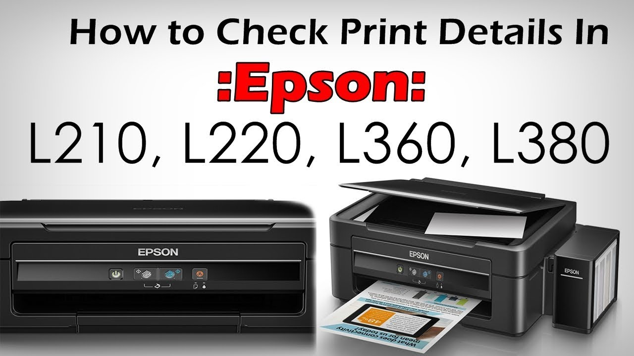 How To Count Page of Epson Printers | Epson L210, L220, L360, L380 |  Technologist Mandy