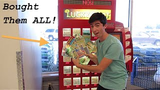 BUYING ALL THE LOTTERY TICKETS IN THE LOTTERY MACHINE!!!!