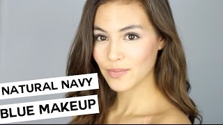 MAKEUP GIVEAWAY  + Natural Navy Blue Makeup Look
