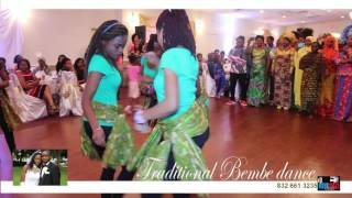 Traditional Bembe Dance Nicas & Louise Wedding In Houston-texas