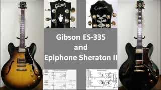 Gibson ES-335 and Epiphone Sheraton II