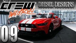 The Crew: Wild Run Gameplay: EP9: 2015 Ford Mustang Perf Spec & Vegas! (Street Racing 1080p)
