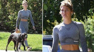 EXCLUSIVE - Sexy Model Shauna Sexton Wows Woodland Hills While Walking Her Dog
