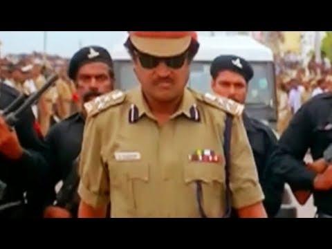 Rajini reveals himself as Sr.Inspector he arrest Jaysudha on killing goons   Cinema Junction HD