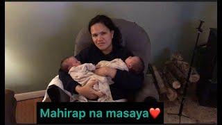 MAHIRAP NA MASAYA ,LIFE WITH NEWBORN TWINS| Filipina American Couple