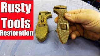Seized Solid 2 Adjustable Rusty Wrench Restoration