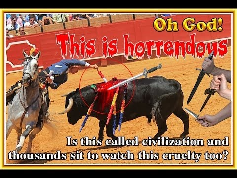 BULLFIGHTING - ONE OF THE MOST HIDEOUS FORMS OF ANIMAL CRUELTY ON EARTH