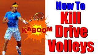 Tennis Drive Volley Technique   Kill High Balls