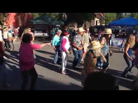 """""""Happy"""" line dance flash mob at Carbondale, CO First Friday June 2014"""