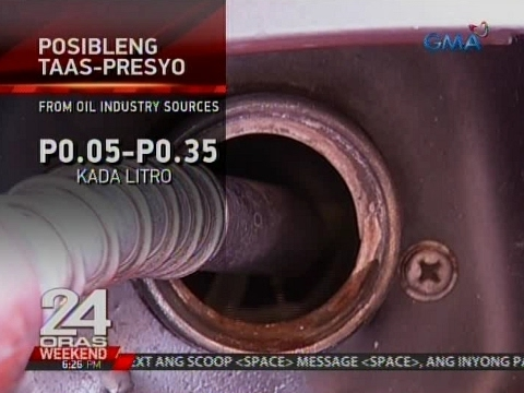 24 Oras: Possible oil price hike