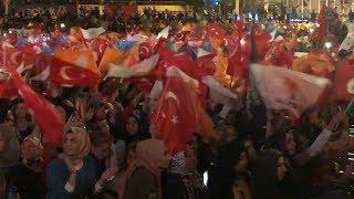 エルドアン大統領が勝利演説 トルコ大統領選 アンカラ