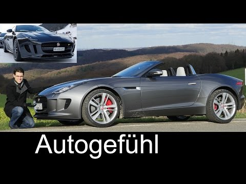 2017 Jaguar F-TYPE Roadster V6 MHD vs F-TYPE Coupé R V8 AWD comparison FULL REVIEW test driven