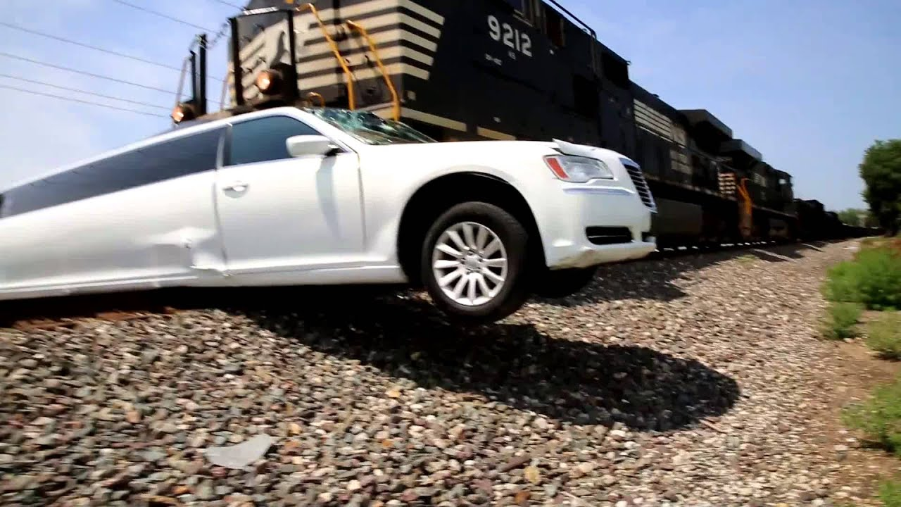 Amazing Limo Vs Train Crash Elkhart County Youtube