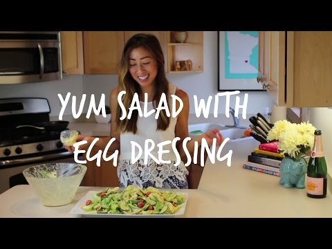 How to make YUM SALAD | Laotian Style Egg Dressing Salad | House of X Tia | Lao Food
