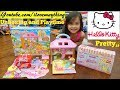 Little Girls' TOYS: Sanrio Hello Kitty Dollhouse. A Small Dollhouse Set and Food Truck Playset