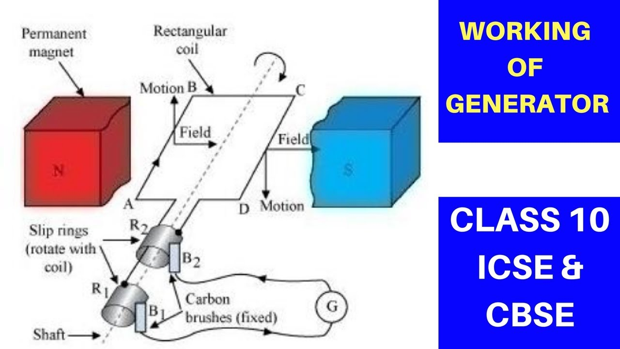 Working Of Generator Class 10 Icse And Cbse Youtube