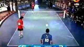 مباراه ميسي وتيفيز ضد مارادونا واينزو