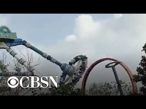 Video shows amusement park ride in India break in midair, killing 2