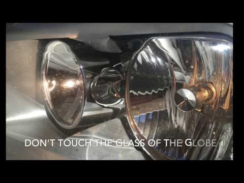 How to change the Headlight Globe bulb on 1 one series BMW H7 blown globe switch out