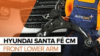 How to change Air flow sensor on HYUNDAI SANTA FÉ II (CM) - online free video