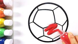 Football coloring \u0026 drawing \u0026 studying English for kids ㅣ 축구공 그리기 색칠하기 영어 공부