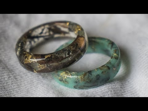Making silver, gold and walnut epoxy rings!
