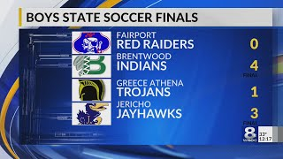 Section V soccer defeated in state championship games