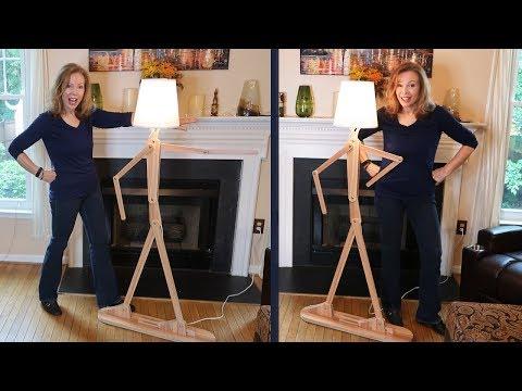 HROOME Wooden FLOOR LAMP 💥Modern Stick Man Light (ADJUSTABLE) Review 👈