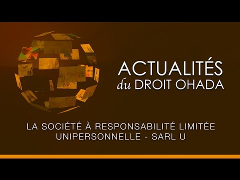 La Societe A Responsabilite Limitee Unipersonnelle Sarl U Youtube