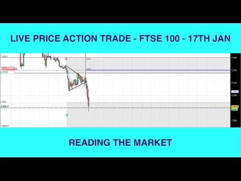 Live Price Action Trade FTSE 100 - Reading The Market - 17th Jan