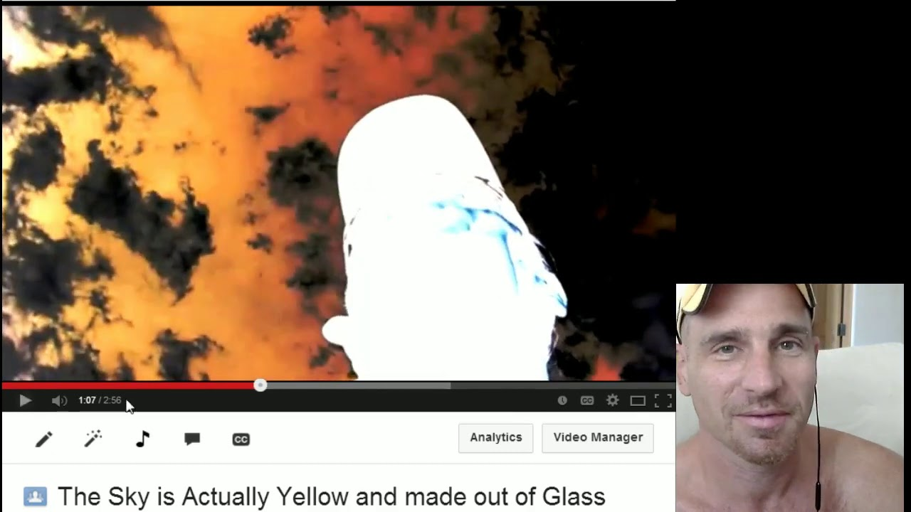 UFO Captured on Glass Sky Video - Lord Steven Christ's Concave Earth