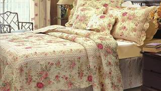 Chic Shabby Romantic Rose Bedding Quilt Set Queen ; Shabby Chic Comforter