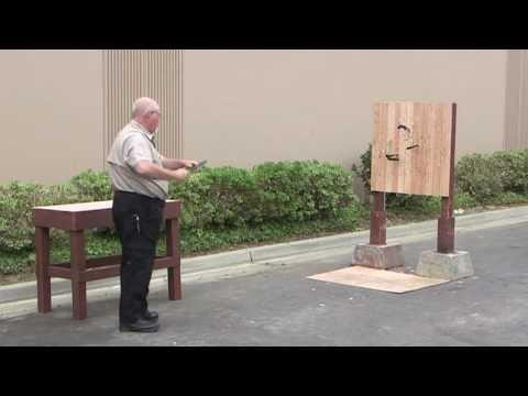 Throwing Folding Knives - Bonus Destruction Test
