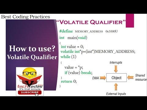 How To Use Volatile Keyword | Volatile Qualifier In C With Example