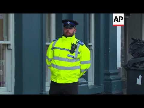 Police cordon off area where former Russian spy was taken ill