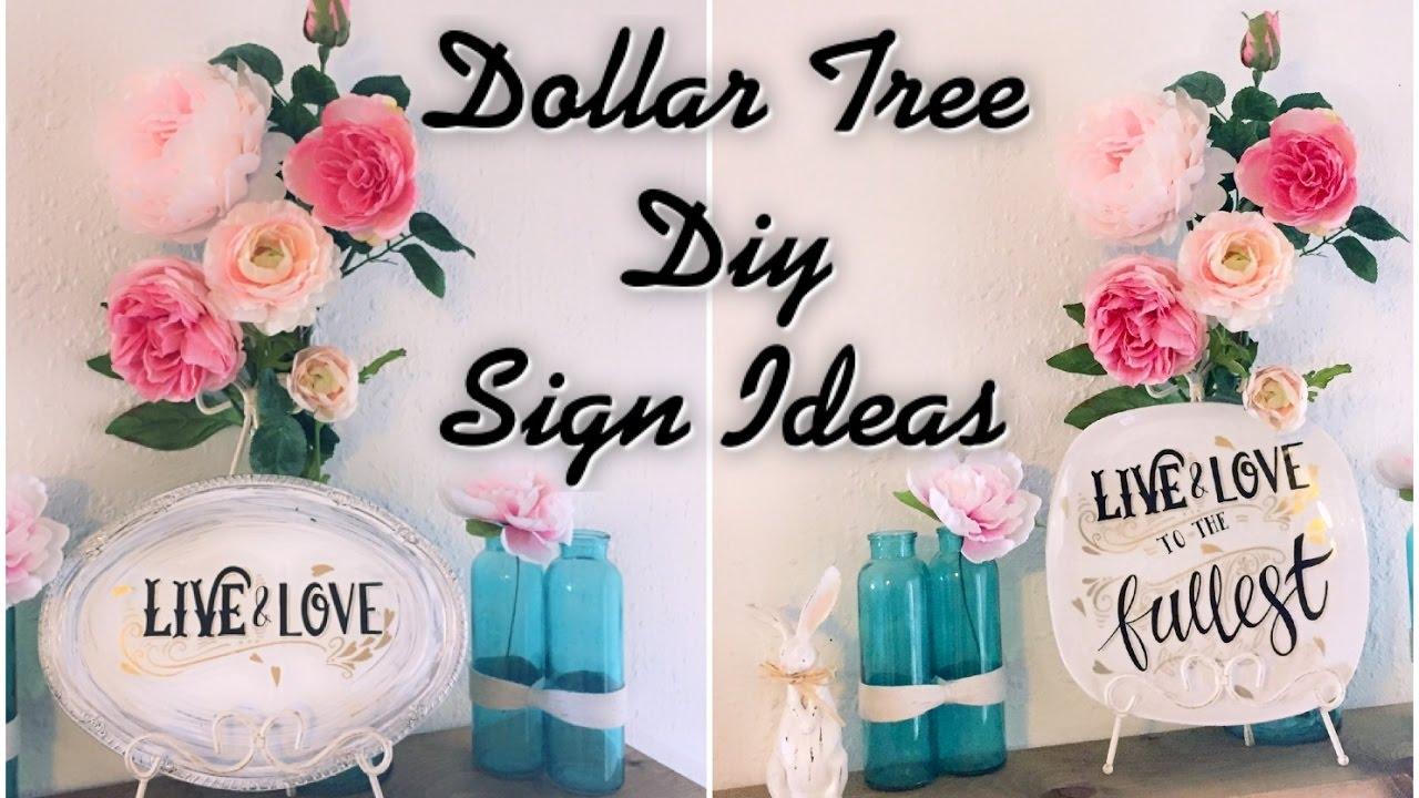 Dollar Tree DIY Signs