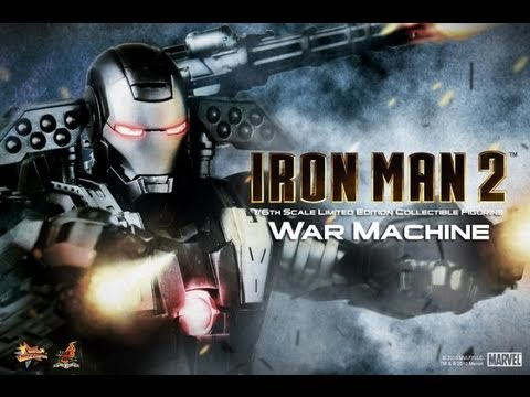 Iron Man 2 Hot Toys War Machine 1/6 Scale Movie Masterpiece Collectible Figure Review