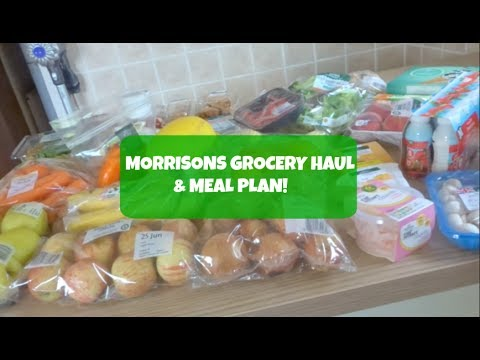 MORRISONS GROCERY HAUL & MEAL PLAN!