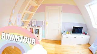 ROOMTOUR 🌈 Kinderzimmer mit Hochebene | Pastellfarben | Isabeau