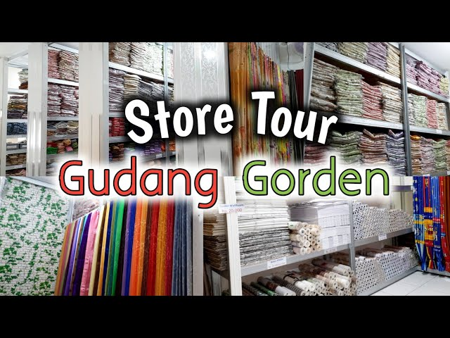 VLOG REVIEW TOKO GUDANG GORDEN PKP | Gorden, Blind, Wallpaper, Vinyl, Plafon PVC, Rumput Sintetis