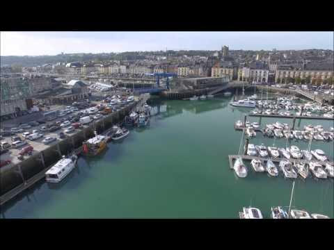 Vidéo aérienne par drone du Port de Dieppe
