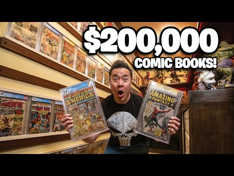 $200,000 COMIC BOOK ROOM MAKEOVER – CGC Comic and Statue Collection Tour!