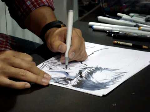 comic con artist drawing marvel capcom part 1 youtube